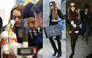 Photos of Lindsay Lohan and Samantha Ronson Arriving in London