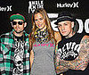 "Photo of Bar Refaeli with the Madden Brothers at Hurley's ""Walk The Walk"" Fashion Show and Design Competition"