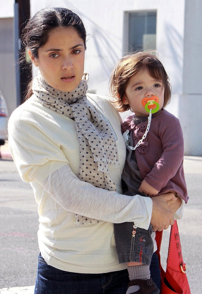 Salma Hayek and Valentina in LA
