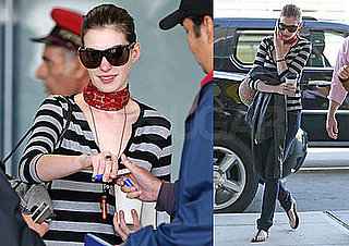 Photo of Oscar Nominee Anne Hathaway at LAX