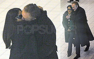 Photos of Salma Hayek and Francois-Henri Pinault Kissing at Paris Airport