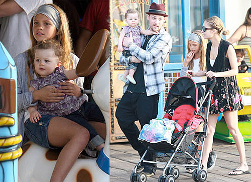 Photos of Nicole Richie, Joel Madden, and Harlow Madden at a Fair in LA