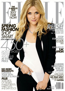 Reese Witherspoon in April Elle Magazine