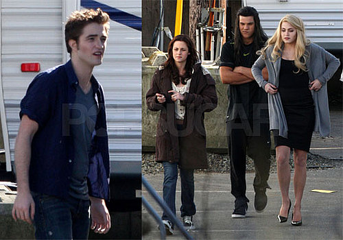 Photos of Robert Pattinson, Taylor Lautner, Kristen Stewart, Nikki Reed Filming New Moon in Vancouver