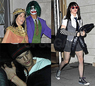 Photos of Madonna, Jesus Luz, Ashton Kutcher, Demi Moore Dressed Up For Purim Party at Kabbalah Center in NYC