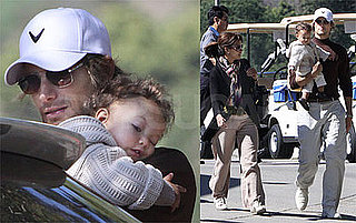 Photos of Halle Berry, Gabriel Aubry, Nahla Aubry on Golf Course in LA