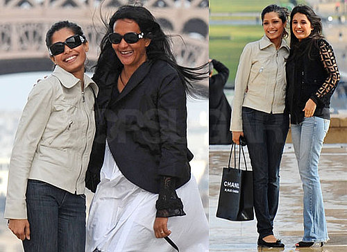 Photos of Frieda Pinto Out Sightseeing in Paris With Her Friends