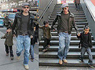 Photos of Brad Pitt, Maddox Jolie-Pitt, Pax Jolie-Pitt, Angelina Jolie in NYC