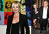 Photos of Kate Moss in Paris at Andy Warhol Exhibit, in London at Sir Philip Green's Birthday Party