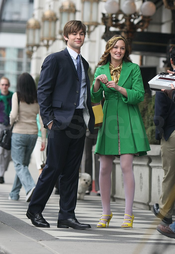 Blake Lively Filming Gossip Girl
