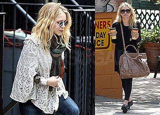Photos of Mary-Kate Olsen Out in NYC; Ashley Olsen in LA