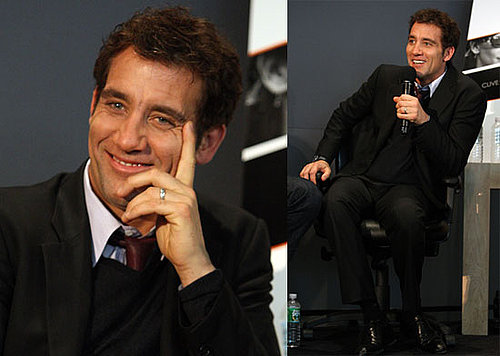 Photos of Clive Owen Talking at the Apple Store