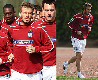 Photos of David Beckham Training in London