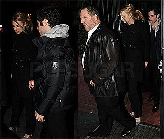 Photos of Blake Lively and Penn Badgley Leaving the Waverly Inn With Harvey Weinstein