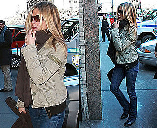 Photos of Jennifer Aniston Arriving to the Set of Baster in NYC