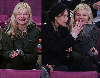 Photos of Kirsten Dunst Watching the NY Rangers Hockey Game