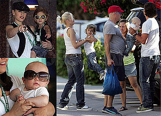 Photos of Gwen Stefani, Gavin Rossdale, Kingston Rossdale and Zuma Rossdale in Indian Wells
