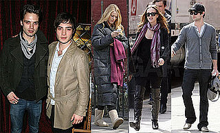 Photos of Blake Lively, Leighton Meester, and Chace Crawford on the Set of Gossip Girl in NYC