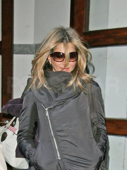 Photos of Jennifer Aniston Leaving the Set of The Baster in NYC