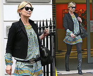 Photos of Kate Moss, Who's Set to Sing on An Album, Out in London