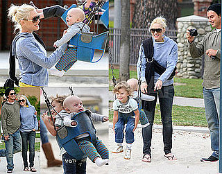 Photos of Gwen Stefani, Gavin Rossdale, Zuma Rossdale, Kingston Rossdale at the Park in LA