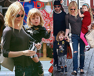Photos of Iron Man 2's Gwyneth Paltrow at the Brentwood Country Mart With Kids Apple and Moses