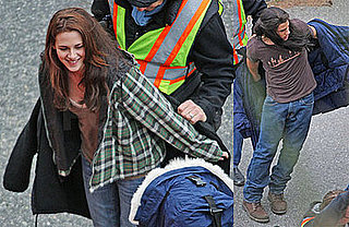 Photos of Kristen Stewart and Taylor Lautner on the Set of New Moon