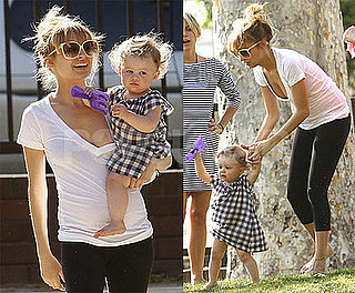 Photos of Pregnant Nicole Richie and Harlow Madden at Playground