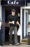 John Krasinski Leaving a Cafe