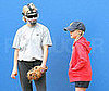 Photo of Reese Witherspoon and Her Daughter Ava Playing Softball
