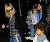 Photo of Heidi Klum with Leni Klum and Henry Samuel at JFK