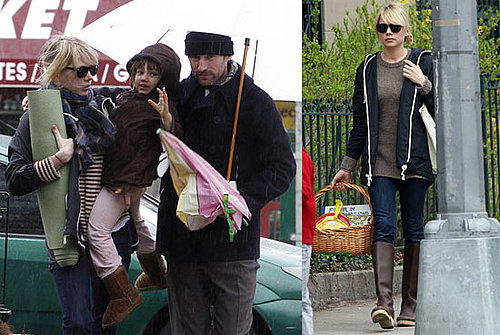 Photos of Michelle Williams, Matilda Ledger, and Spike Jonze in NYC