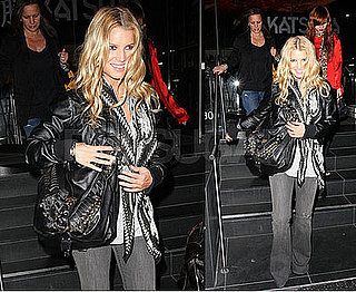 Photos of Jessica Simpson, Ashlee Simpson, Tina Simpson Leaving Katsuya