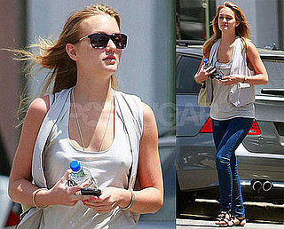 Photos of Leighton Meester in California and Blonde!