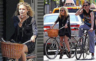 Photos of Mary-Kate Olsen and Nate Lowman Biking Through NYC