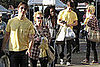 Photos of Drew Barrymore and Justin Long at the Melrose Trading Post at Fairfax High School