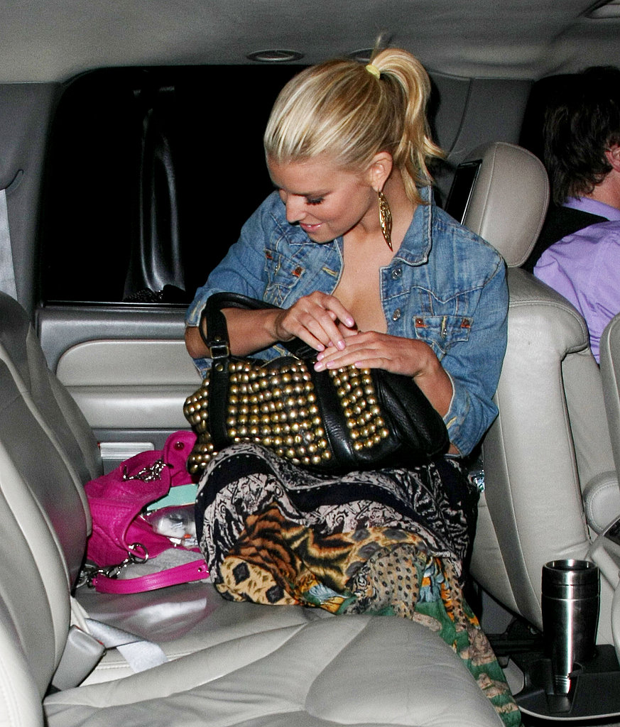 Jessica Simpson Leaving Katsuya