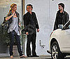 Photo of Charlize Theron, Stuart Townsend and Sean Penn at LA's Versailles Cuban Restaurant