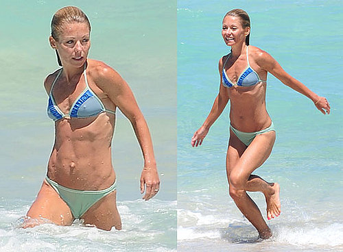 Photos of Kelly Ripa Swimming in Her Bikini in Miami