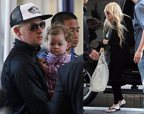 Photos of Nicole Richie and Joel Madden with Harlow at LAX