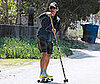 Photo of Matthew McConaughey Exercising Near His Malibu Home