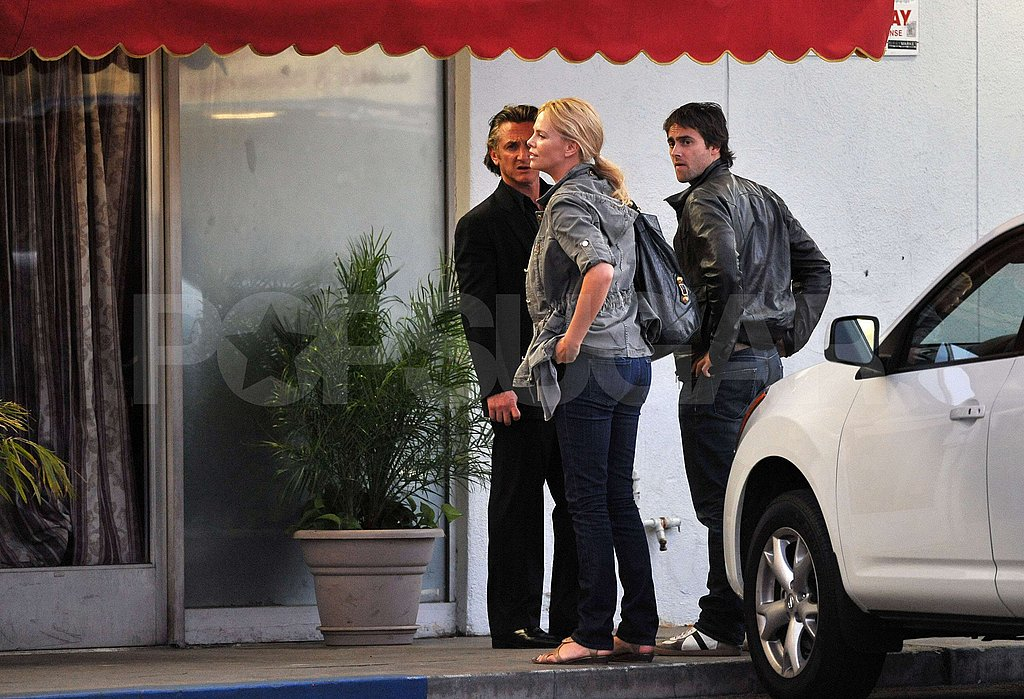 Charlize, Sean and Stewart Have Lunch