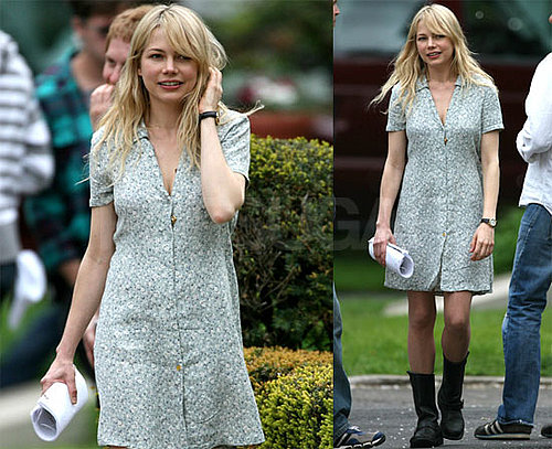 Photos of Michelle Williams on the Set of Blue Valentine in Pennsylvania