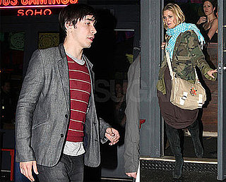 Photos of Drew Barrymore and Justin Long Leaving Dos Caminos in NYC