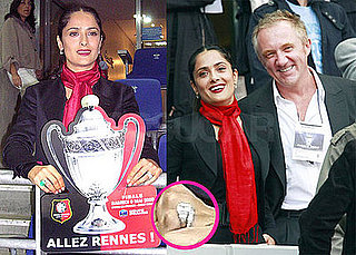 Photos of Salma Hayek and Francois-Henri Pinault's at Coupe de France