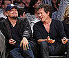 Photo Slide of Leonardo DiCaprio and Kevin Bacon at a Lakers Gane