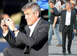 Photos of George Clooney Filming Up in the Air in Las Vegas