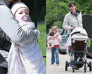 Photos of Jennifer Garner Taking Violet Affleck and Seraphina Affleck For a Walk in Boston