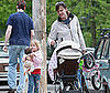 Photo Slide of Jennifer Garner with Her Daughters Violet and Seraphina in Boston