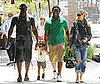 Photo Slide of Pregnant Heidi Klum Out in LA with Seal, Johan, and a Friend